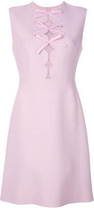 Giambattista Valli bow detail scalloped dress