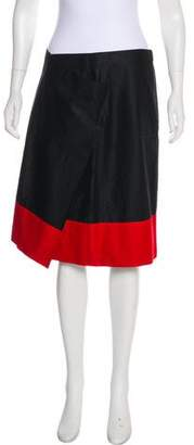 DKNY Colorblock A-Line Skirt
