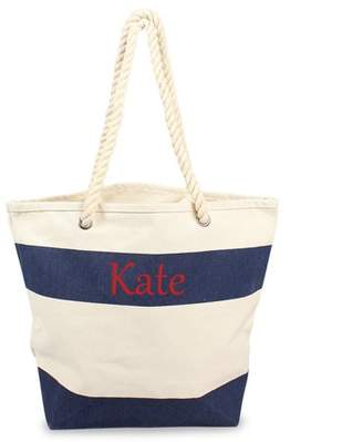 Cathy's Concepts Personalized Striped Canvas Totes w/ Rope Handles