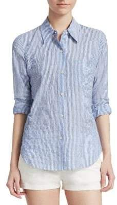 Theory Striped Button-Front Shirt