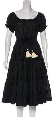 Innika Choo Short Sleeve Midi Dress