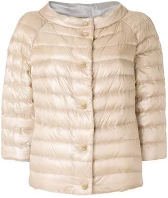 Herno cropped padded jacket