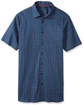 Perry Ellis Men's Big and Tall Short Sleeve Walkmen Shirt