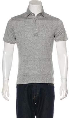 Isaia Linen-Blend Polo Shirt