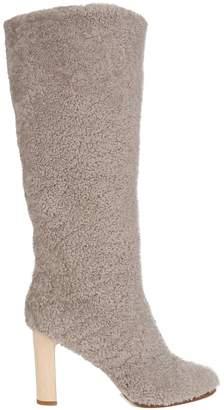 ÁLVARO Shearling block-heel boots