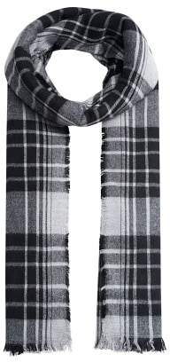 MANGO Bicolor check scarf