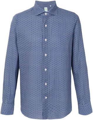 Finamore 1925 Napoli geometric print button-down shirt