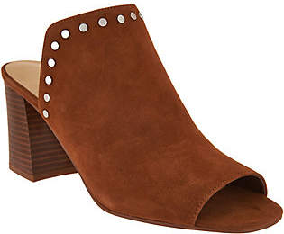 Marc Fisher Leather or Suede Studded Mules -Dalilah