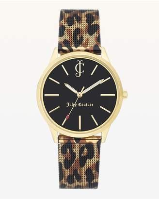 Juicy Couture Leopard Metal Mesh Watch
