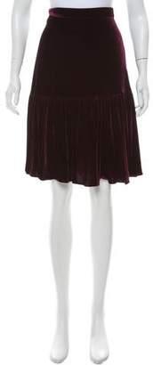Calvin Klein Velvet A-Line Skirt