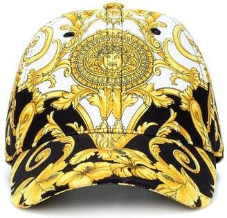 Versace Printed cotton cap