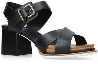 Tod's Leather Block Heel Sandals 50