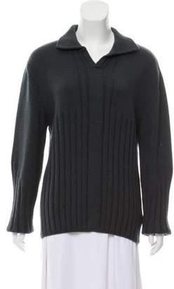 Versace Virgin Wool Ribbed Sweater