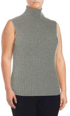 Lafayette 148 New York Plus Cashmere Sleeveless Sweater