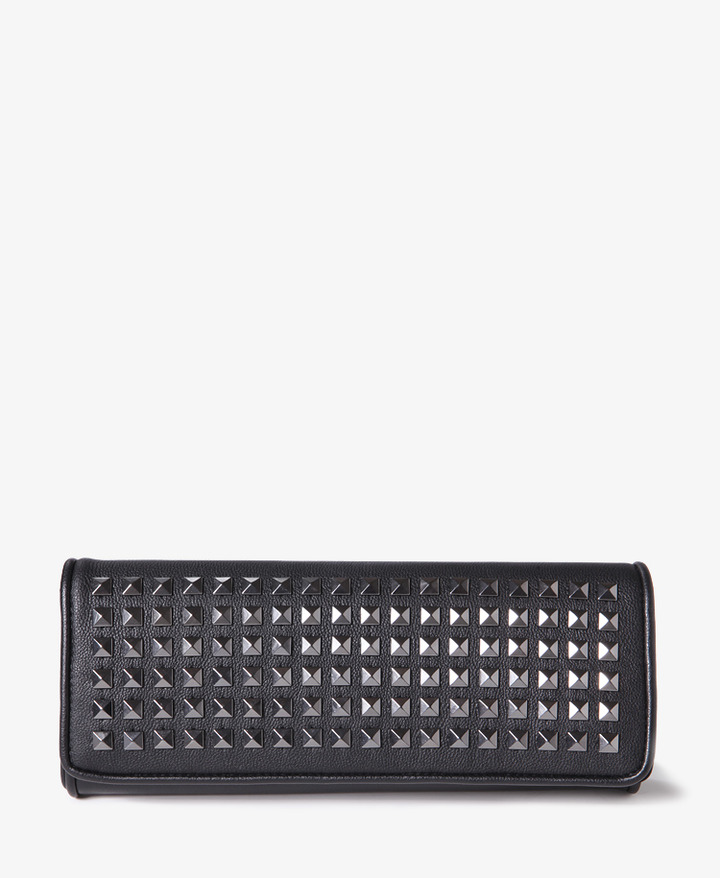 Forever 21 Studded Flap Clutch