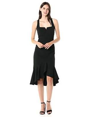 Taylor Dresses Women's Sleeveless Solid Flounce Skirt Cocktail Dress