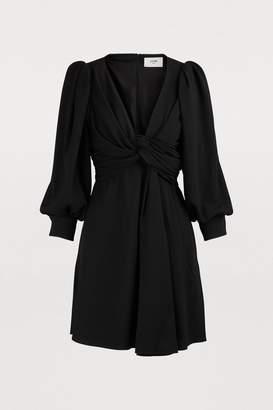 Celine Draped sable dress