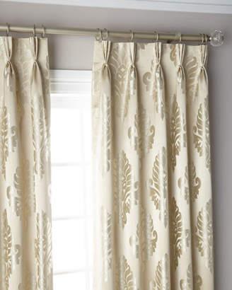 """Thomas Laboratories Misti Modern Luxuries Oyster 3-Fold Pinch Pleat Curtain Panel, 120"""""""