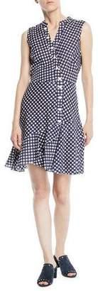 Shoshanna Ayden Asymmetric Gingham Dress