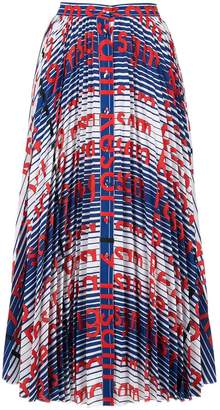 MSGM printed button-down skirt
