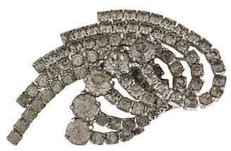 Dolce & Gabbana Crystal Embellished Curved Brooch