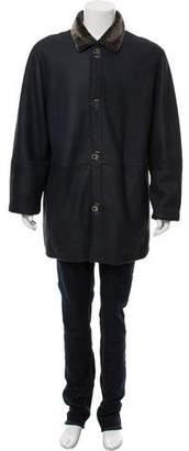 Salvatore Ferragamo Shearling-Lined Leather Coat