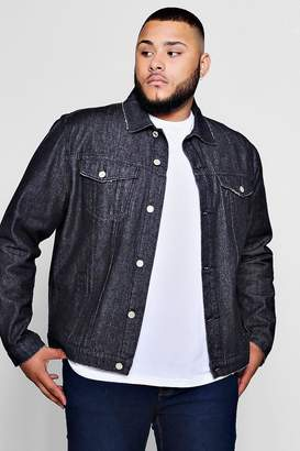 boohoo Big And Tall Regular Fit Denim Western Jacket