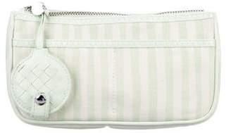 Bottega Veneta Striped Canvas Cosmetic Bag