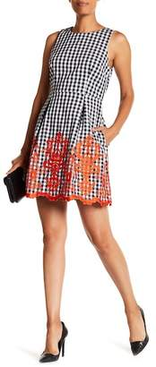 Laundry by Shelli Segal Gingham Print A-Line Dress
