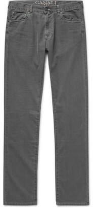 Canali Slim-Fit Washed Cotton-Blend Denim Jeans