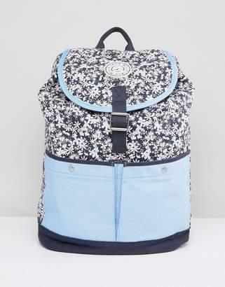 Jack Wills Floral Colour Block Backpack