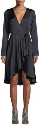 Joie Miltona B Long-Sleeve Wrap Dress