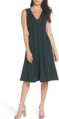 Adelyn Rae Pilar Ponte Knit A-Line Dress