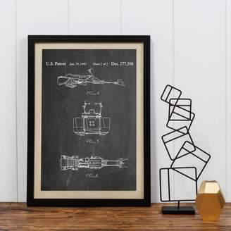 Star Wars I Heart Travel Art. 'Return Of The Jedi' Land Vehicle Print