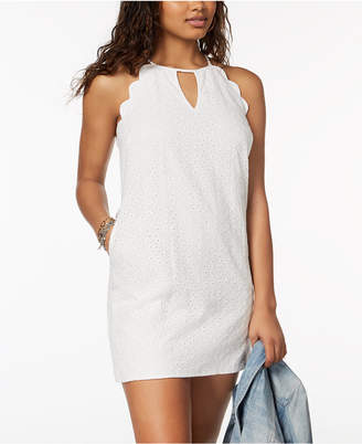 Speechless Juniors' Scalloped Eyelet Dress