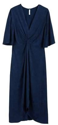 MANGO Knotted jacquard dress