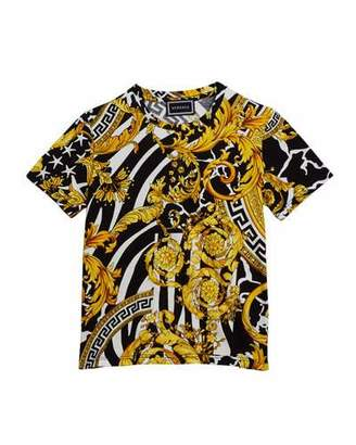 Versace Boy's Barocco Print Short-Sleeve T-Shirt, Size 4-6