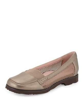 Taryn Rose Jac Mesh Slip-On Loafer, Quartz $155 thestylecure.com