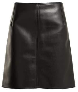 Kwaidan Editions - High Rise Faux Leather Skirt - Womens - Black