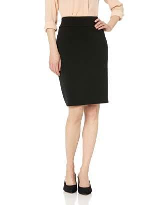 Nine West Women's Drapey Crepe Pull ON Slim Skirt