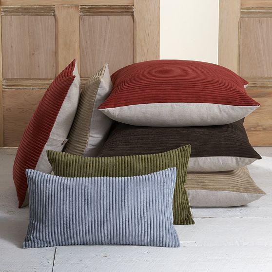 Corduroy/Linen Pillow Cover