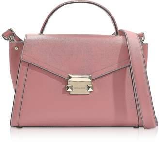 effc94134730 Michael Kors Rose Leather Whitney Medium Top-Handle Satchel Bag