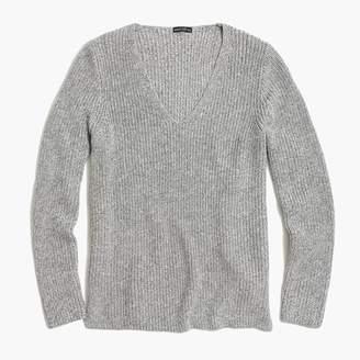 J.Crew Textured cotton V-neck pullover sweater
