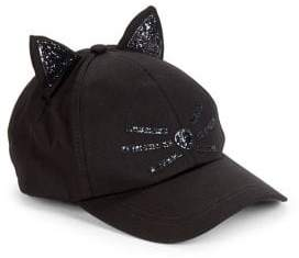 Collection 18 Glitter Cat Baseball Cap