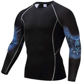 5d07254f1005 DayOn novelty-t-shirts Fitness MMA Men Rashguard Male T Shirt Crossfit  Bodybuilding Skull