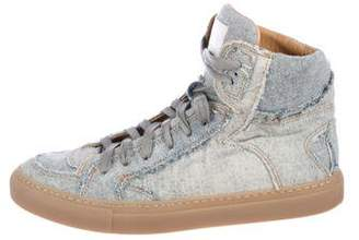 MM6 MAISON MARGIELA Denim High-Top Sneakers