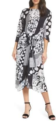 CAARA Krefeld Scarf Print Midi Dress