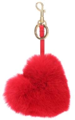 Anya Hindmarch Tassel rabbit fur bag charm