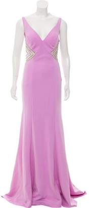 Terani Couture Jewel Embellished Evening Gown