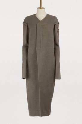 Rick Owens Wool v neck coat